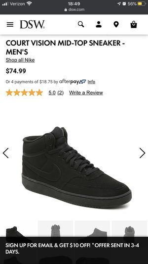 Nike Court Vision High Black for Sale in Port Richey, FL