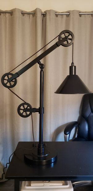 28 in. Pulley LED Table Lamp for Sale in Chino, CA