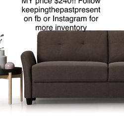 🥜ZINUS Ricardo Sofa Couch / Tufted Cushions / Easy, Tool-Free Assembly, Chestnut Brown-NEW!! for Sale in Columbus,  OH