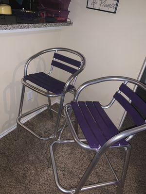 4 purple bar stools for Sale in Dallas, TX