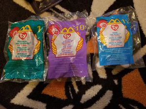 3 Retired McDonald's Beanie Babies New! Nook, Stretchy, and Freckles! 1999 for Sale in Dallas, GA