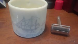 Old Spice shaving mug with shaver for Sale in New Port Richey, FL