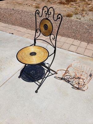 Small boho cabinet, shelf, cool chair for Sale in Phoenix, AZ