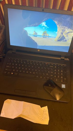 Touchscreen hp laptop with wireless mouse for Sale in Terrytown, LA