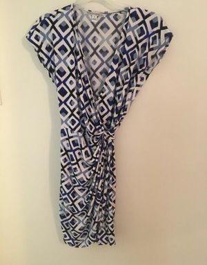 maggy london dress 4 Wrap-Around Tie Blue And White for Sale in Arlington, VA