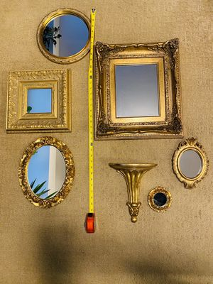 Gold Leaf Mirrors Wall Decor - Sold as Set for Sale in Woodbury, NY