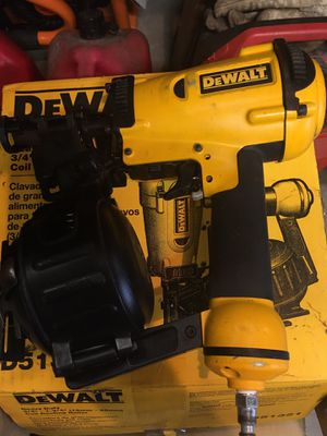 Dewalt roofing nailer and full box of nails for Sale in N MARTINSVLLE, WV