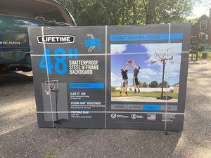 Lifetime Adjustable Portable Basketball Hoop 48 inch backboard for Sale in Windsor, CT