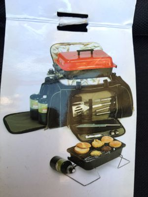 Tailgate duffle bag grill set new bbq football sports for Sale in Chula Vista, CA