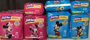 Pullups, diapers or pamper brand packs or box for Sale in Lehigh Acres, FL