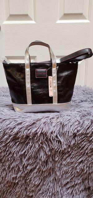 Brand New Black & Silver Victoria's Secret Pink VS Tote Bag Purse $28.00 for Sale in Gardena, CA