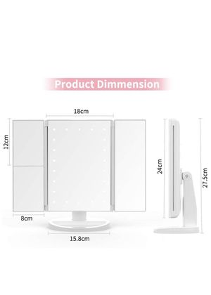 NEW!! Makeup Mirror with Lights, DIOZO Makeup 21 LED Vanity Mirror, Lighted Up Mirror with Touch Screen Switch, 180 Degree Rotation, Dual Power Suppl for Sale in Porter Ranch, CA