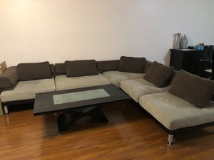 Sectional couch and coffee table (sold separately) for Sale in Los Angeles, CA