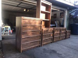 Solid oak dresser sets for Sale in Merced, CA