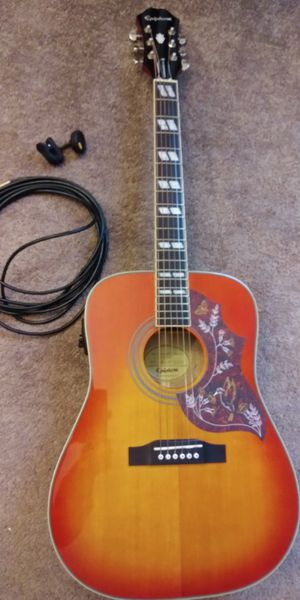 Epiphone Hummingbird Pro acoustic electric for Sale in Portland, OR