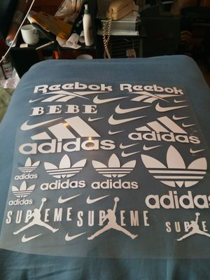Reebok Adidas Nike supreme heat transfers for Sale in Cleveland, OH