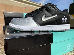 Nike SB Dunk Low Supreme Jewel Swoosh Silver Size 10.5 for Sale in Glendale, AZ