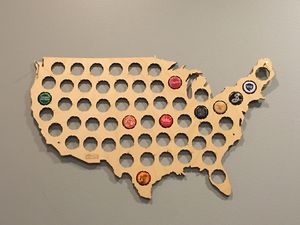 USA Beer Cap Map for Sale in Columbus, OH