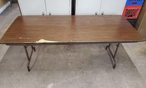 6' folding banquet table. Not perfect but gets the job done. for Sale in Morton Grove, IL
