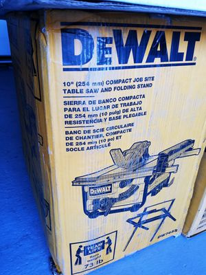 "10"" dewalt. Compact jobsite. Table saw for Sale in Salt Lake City, UT"