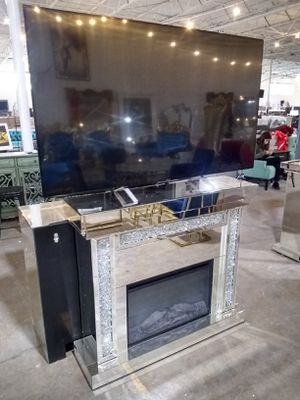 Fireplace TV stand $750 sale today only for Sale in Dallas, TX