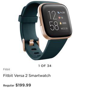 Fitbit Versa 2 Smartwatch for Sale in Houston, TX