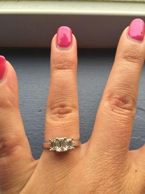 3 stone emerald cut ring for Sale in Sunbury, OH