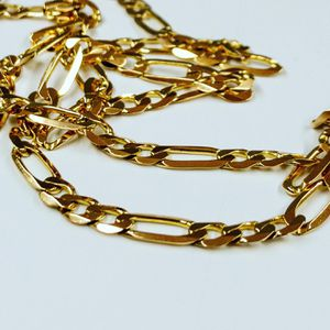 14k gold figaro link chain for Sale in Newington, CT
