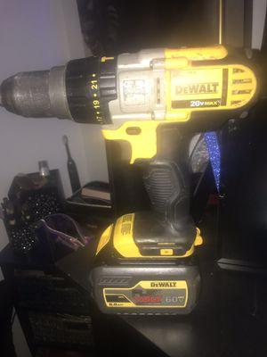 Dewalt 20v Max drill + 60v flex volt battery for Sale in Cheyenne, WY