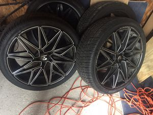 22 inch rims and tires for Sale in Memphis, TN