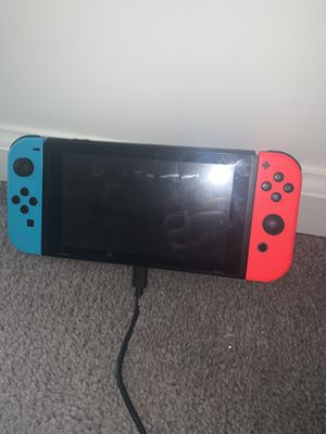 Nintendo switch with 4 controllers and 5 games for Sale in Philadelphia, PA