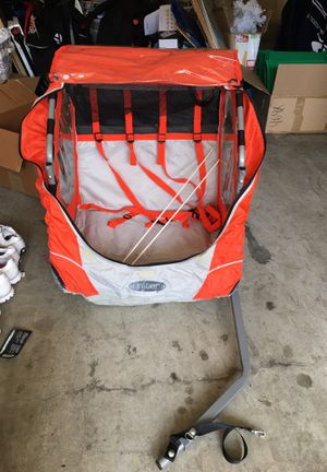 Instep Bike Trailer, double, orange, only used twice. Sells for $150 new, will sell for $70. for Sale in San Diego, CA