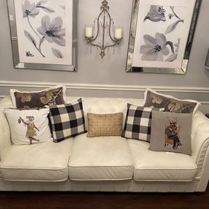 Chestfield White Leather Sofa and Sofa Chair for Sale in Arlington, TX