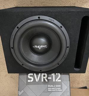 Skar audio 1600w-800rms sub with box 240$ for Sale in Rialto, CA