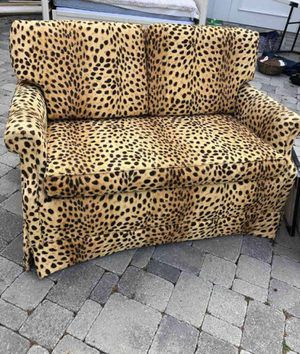 Vintage leopard print loveseat/sofa/chair for Sale in San Diego, CA