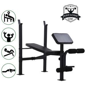 Adjustable Weight Bench Workout Bench for Full Body Exercise Olympic Weight Bench with Squat Rack Stand Black for Sale in Frostproof, FL