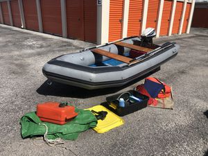 12' Achilles Dinghy Boat With 15hp Evinrude Motor for Sale in Bradenton, FL