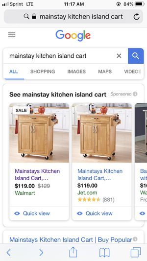 Main stay kitchen island brand new in box for Sale in Detroit, MI