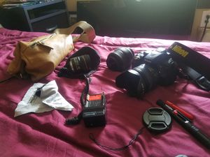 Nikon d5300 camera kit, 3 lenses, bag, more for Sale in Tampa, FL