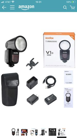 Godox V1-S Round Head Camera Flash Speedlite Flash for Sony DSLR Camera for Sale in San Leandro, CA