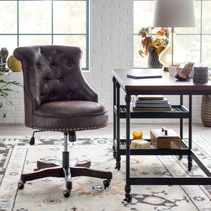 Bellham Living tufted Office Chair With Nailheads Tilts And Swivels for Sale in Golden, CO