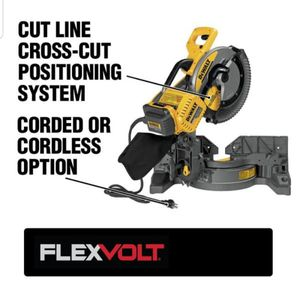 DEWALT FLEXVOLT 120-Volt MAX Lithium-Ion Cordless Brushless 12 in. Miter Saw with AC Adapter for Sale in Rayne, LA