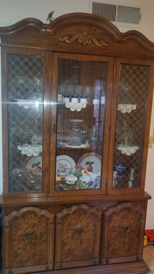 Antique glasses with cabinet for Sale in Fresno, CA