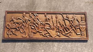 """Vintage Afro Haitian Voodoo Dance Wood Carving Relief 42"""" x 14.5"""" *50..00 Firm* for Sale in Orlando, FL"""