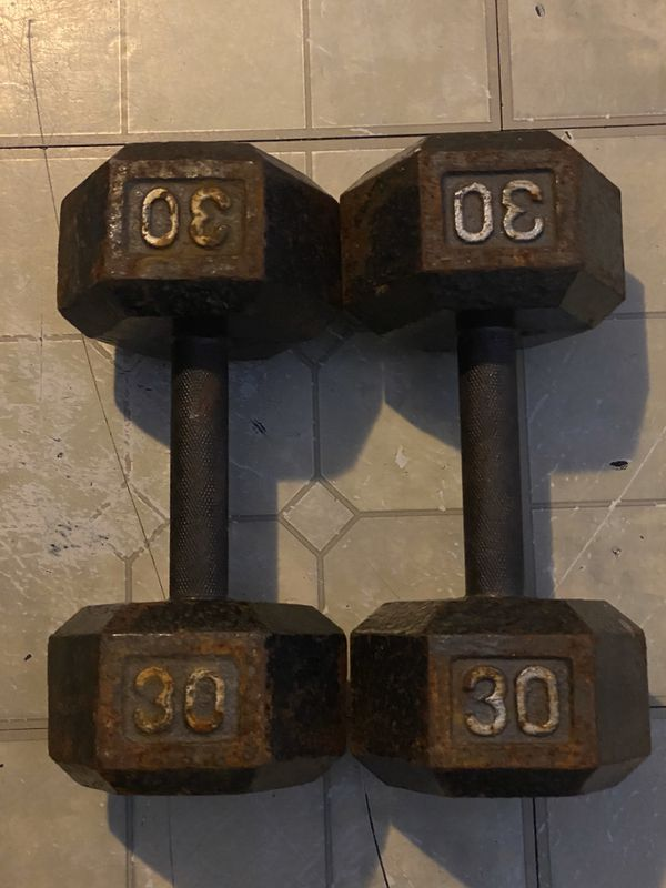 2 pairs of 30pounds dumbbells