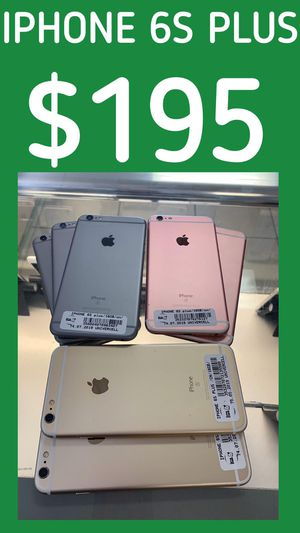 Unlocked for any service & worldwide clean new condition with warranty on sale iPhone 6S plus ! We have 3 colors Available for Sale in Tampa, FL
