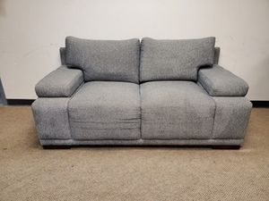 Grey Modern Couch with Compartments in armrests for Sale in Denver, CO