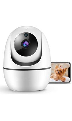 1080P FHD 2.4GHz WiFi Camera , Indoor Security Camera for Pet/Baby/Nanny, AI Human Detection, Night Vision, Cloud Storage/TF Card, 2-Way Audio for Sale in Corona,  CA