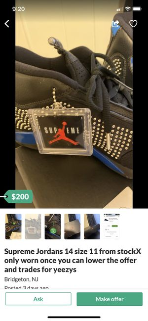 Supreme Jordan 14s trade for yeezys for Sale in Lawrence Township, NJ