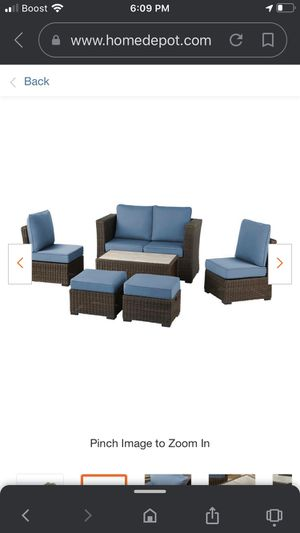 New patio set sofas 6pc never used $600 cash for Sale in West Valley City, UT